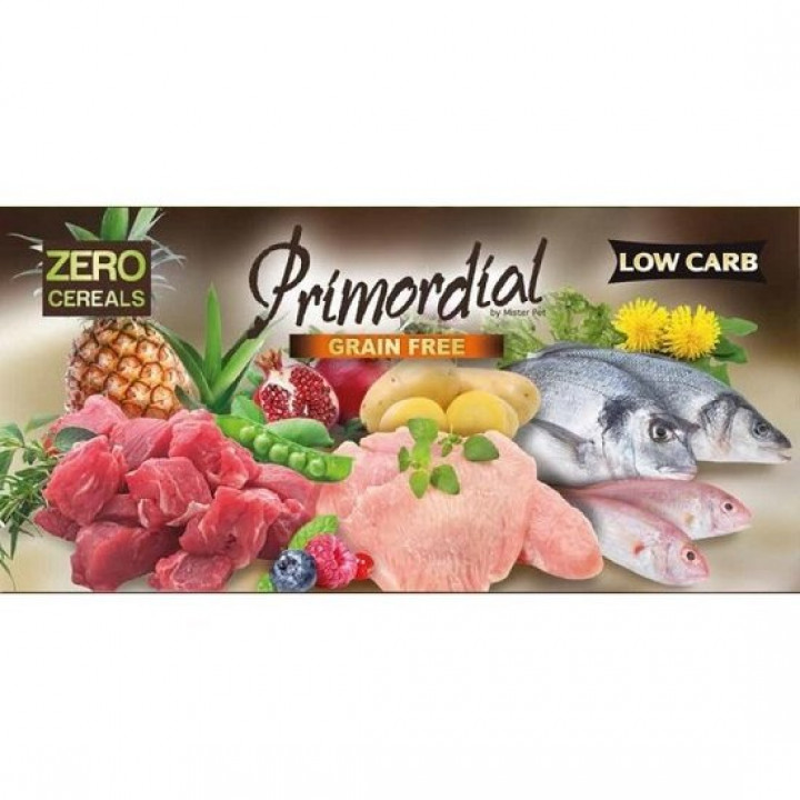PRIMORDIAL GRAIN FREE ADULT SALMON & CHICKEN 12KG